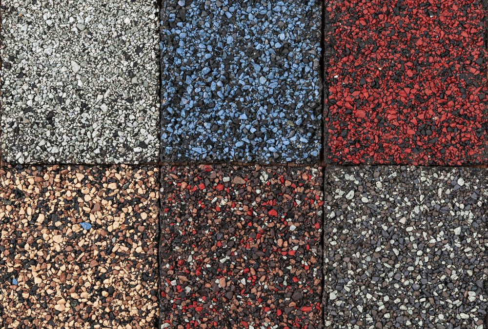 Multi-Colored Asphalt Shingles