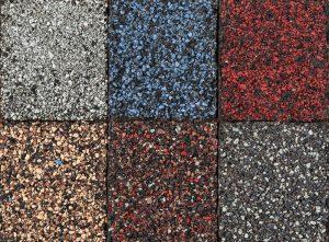 Multi-Colored Asphalt Shingles