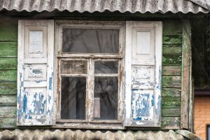 Old Windows with chipping paint
