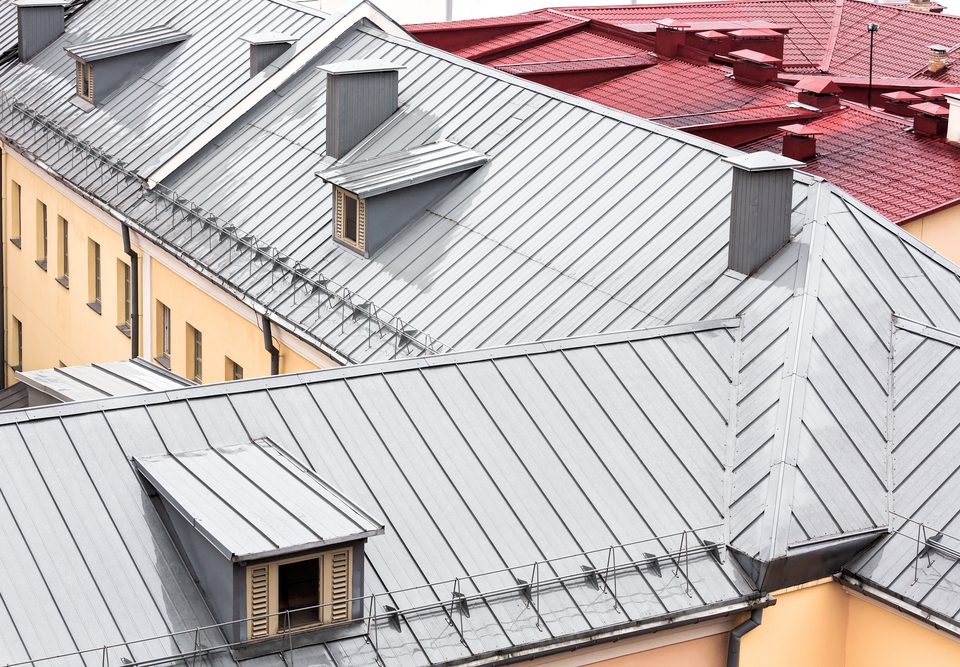 Metal Roofing townhouses
