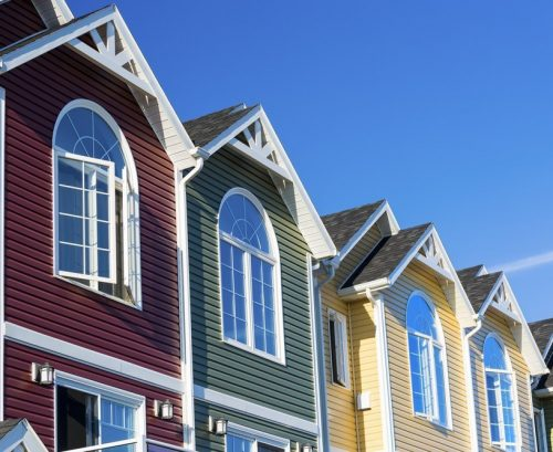 Vinyl Siding Townhouses