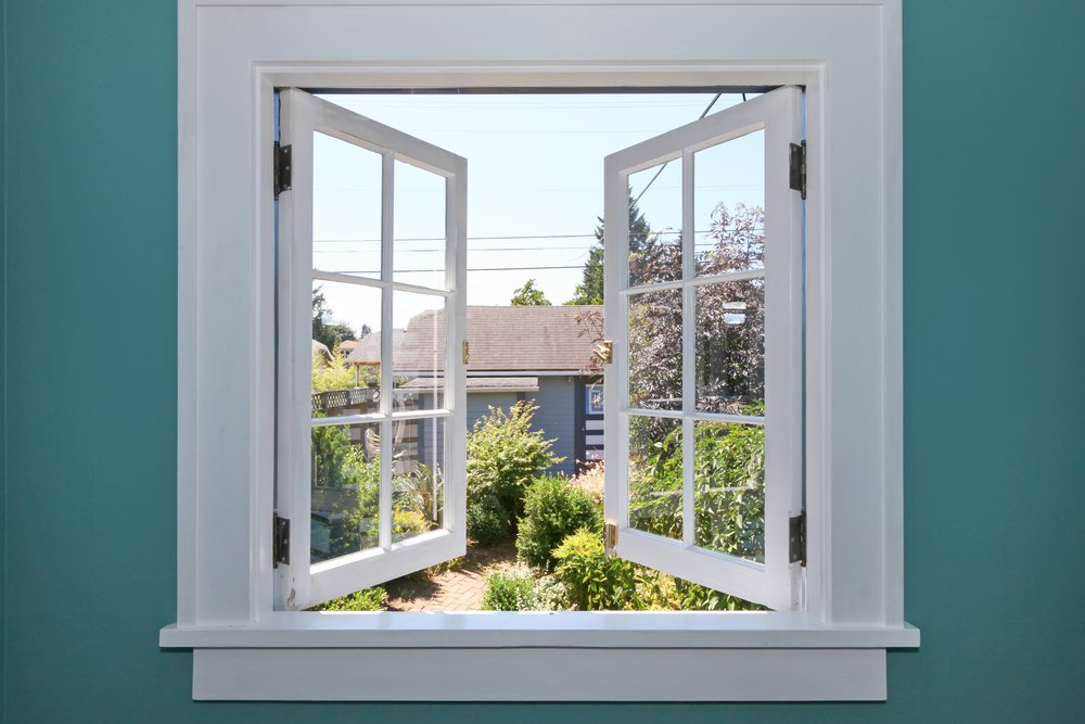 Windows with view to Backyard