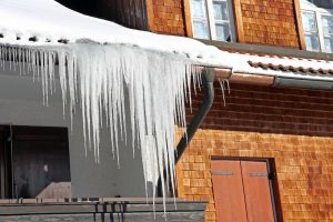 Ice Dams on Old House