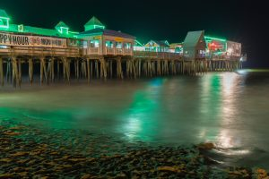 Old Orchard Beach nighttime