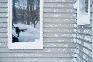 Snow on Vinyl Siding